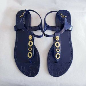 Coach Phila Jelly T Strap Thong Sandals